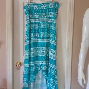 Lily Rose Turquoise Maxi Skirt
